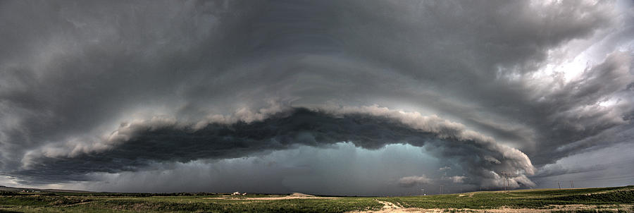 Harlowton Photograph - Harlowton, Montana, Supercell by Dave Rennie