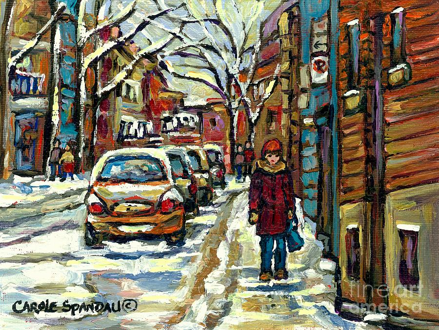 Buy best original montreal streets winter scene paintings for Buy mural paintings