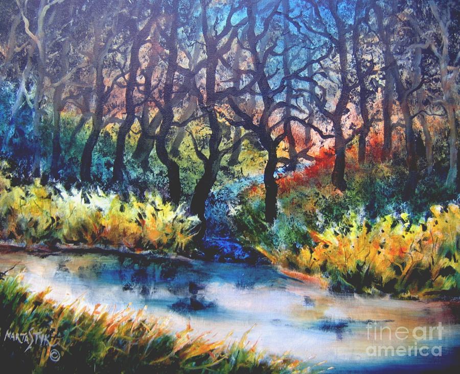 Landscape Painting - Harmony 1 by Marta Styk