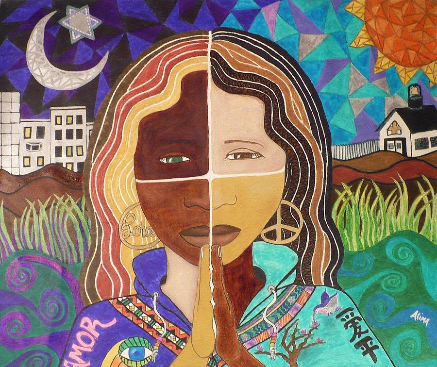 Portrait Painting - Harmony by Alima Newton