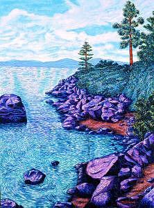 Seascape Painting - Harmony At Lake Tahoe by Max R Scharf