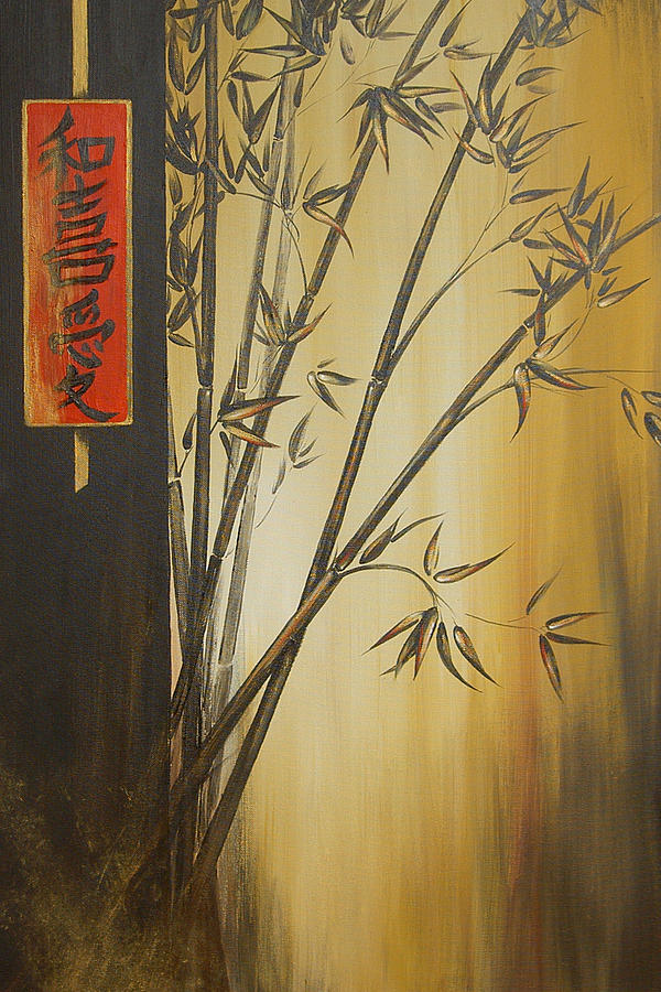 Asian Painting - Harmony Happiness And Love by Dina Dargo