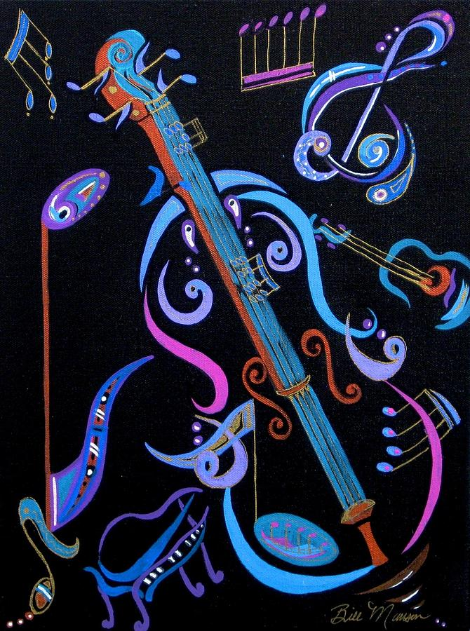 Original Art Painting - Harmony In Strings by Bill Manson