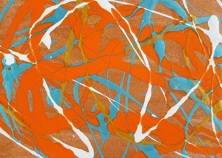 Orange Painting - Harmony by Leslie Joy Ferguson