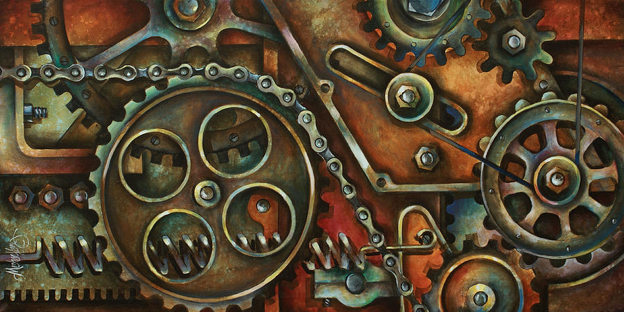 Mechanical Painting - Harmony by Michael Lang