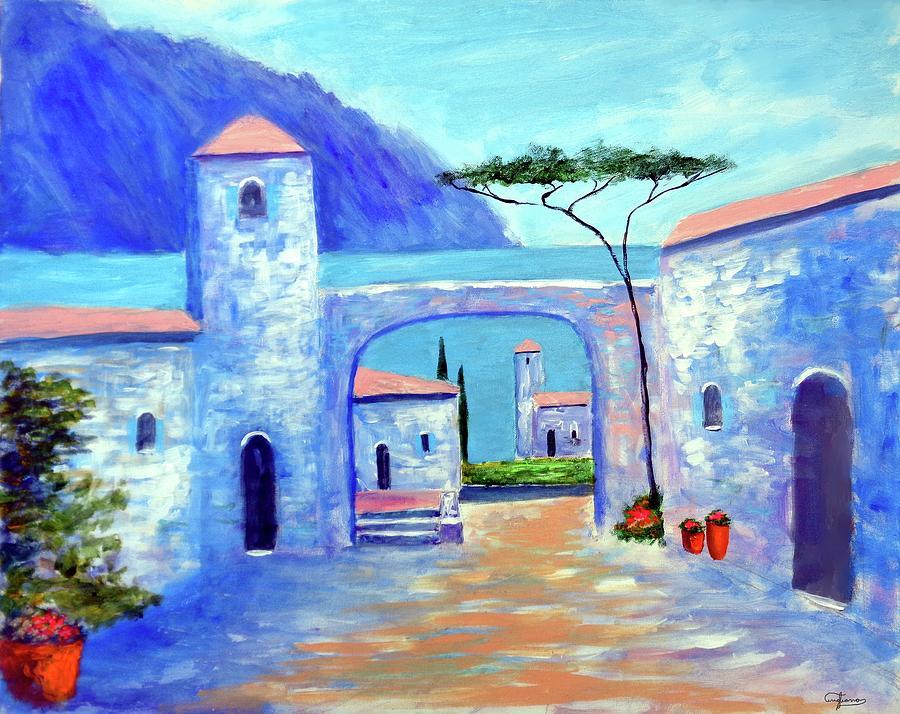 Lake Como Italy Painting - Harmony Of Como by Larry Cirigliano