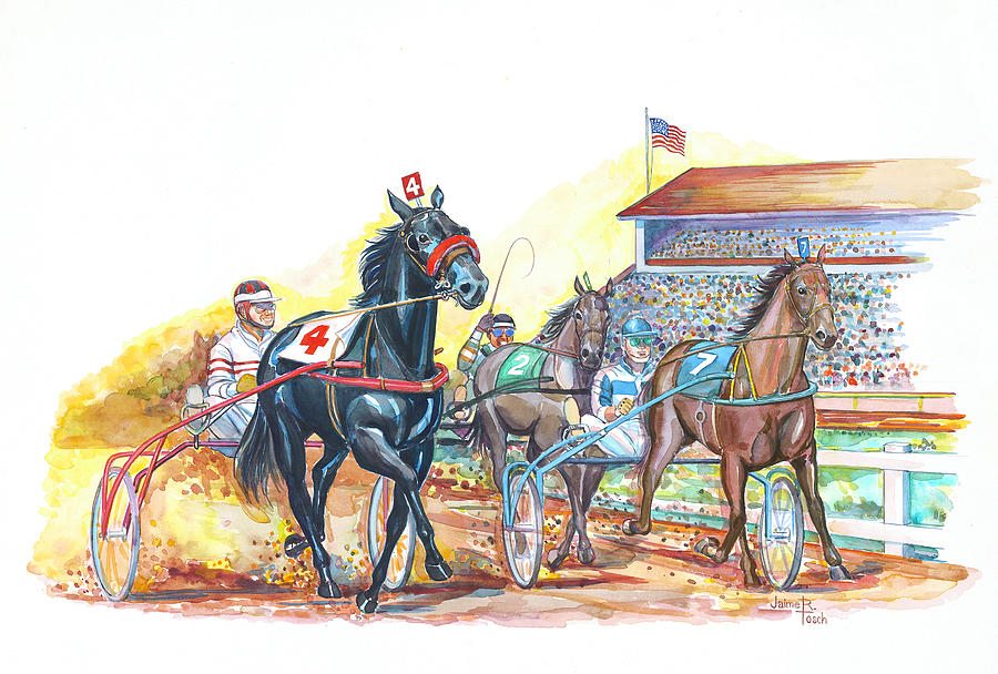 Harness Racing Painting by Jaime Tosch