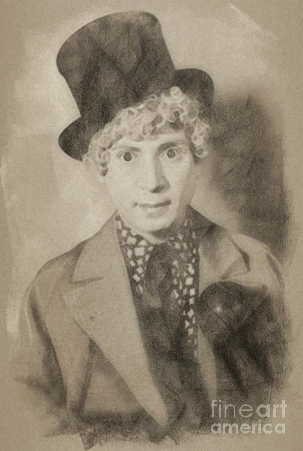 Harpo Marx, Comedy Legend Drawing