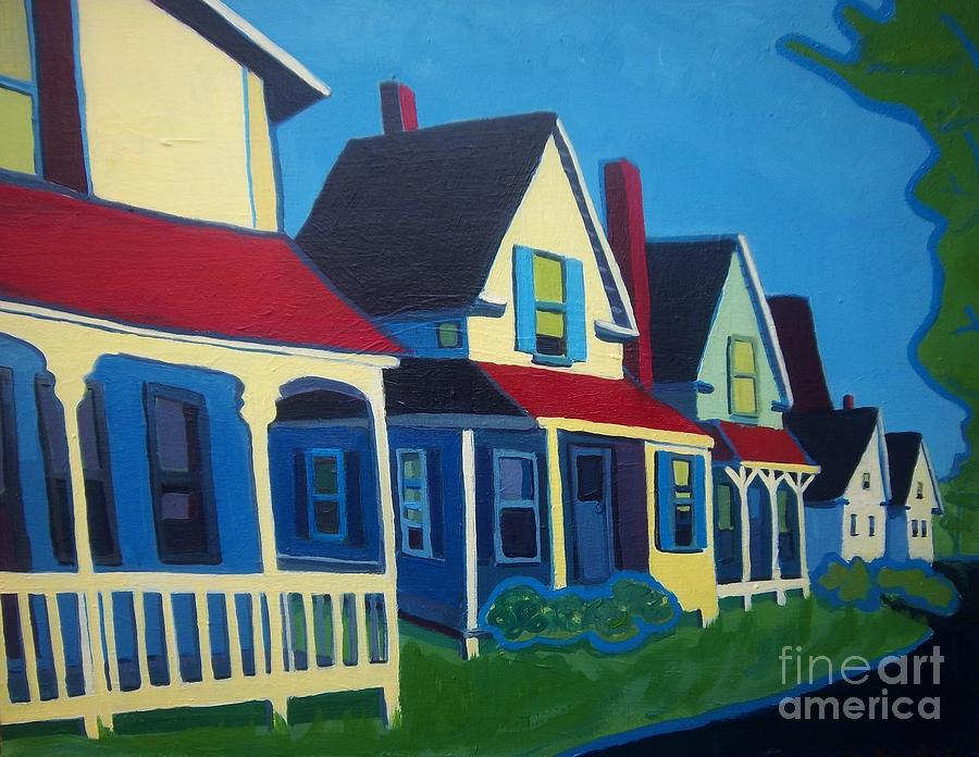 Maine Painting - Harpswell Cottages by Debra Bretton Robinson