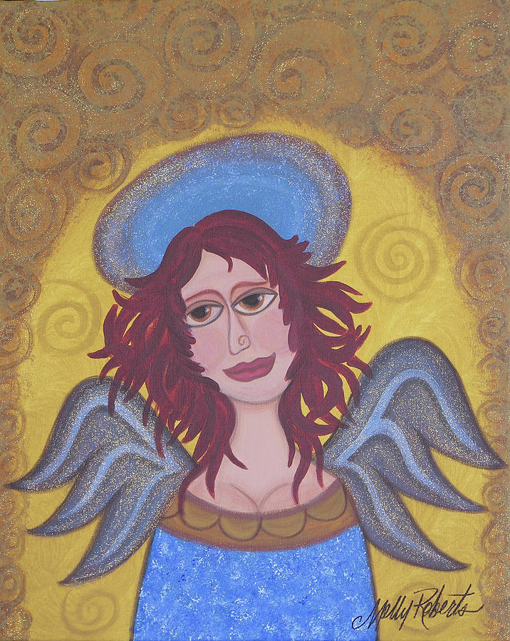 Angel Painting - Harried Harriet by Molly Roberts