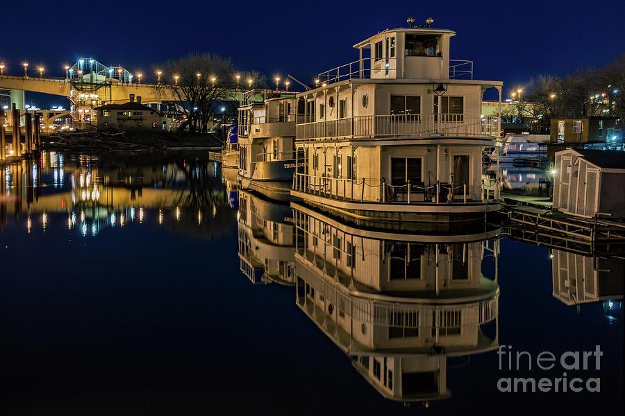 Harriet Island Houseboats Photograph