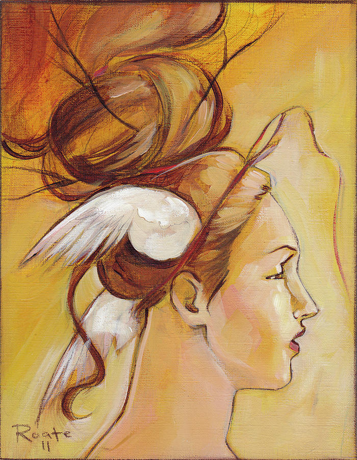 Woman Painting - Harriett by Jacque Hudson