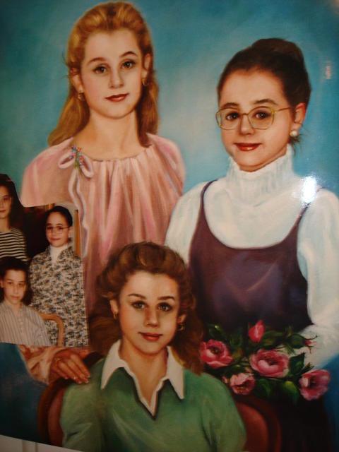 Portrait Painting - Harris Sisters by Catherine Amendola
