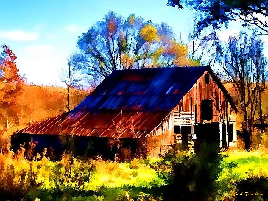 Barn Photograph - Harrison Barn by Kathy Tarochione