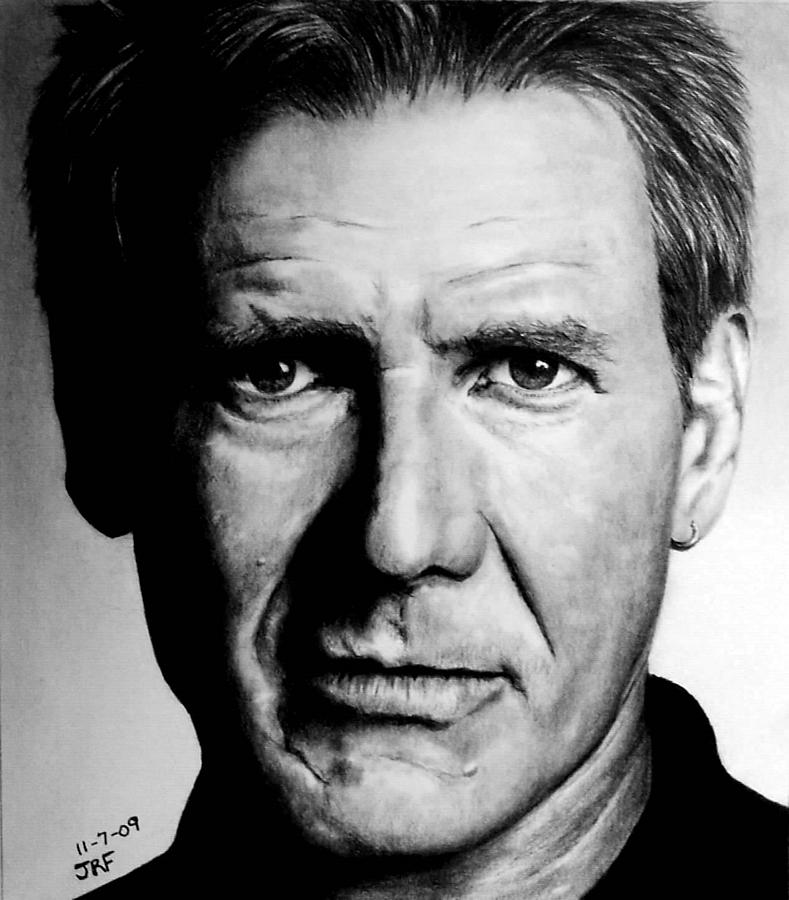 Harrison Ford Drawing - Harrison Ford by Rick Fortson
