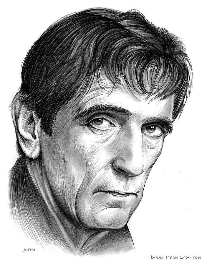Harry Dean Stanton Drawing - Harry Dean Stanton by Greg Joens