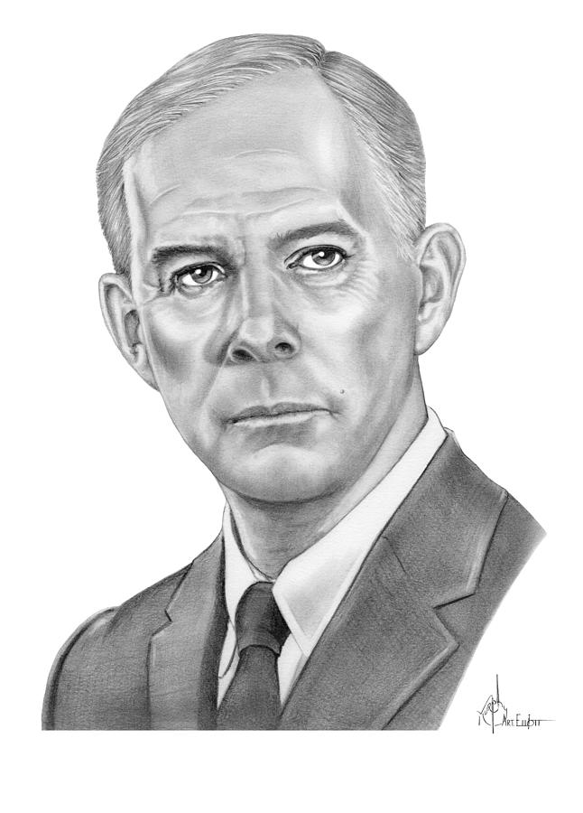 Pencil Drawing - Harry Morgan by Murphy Elliott