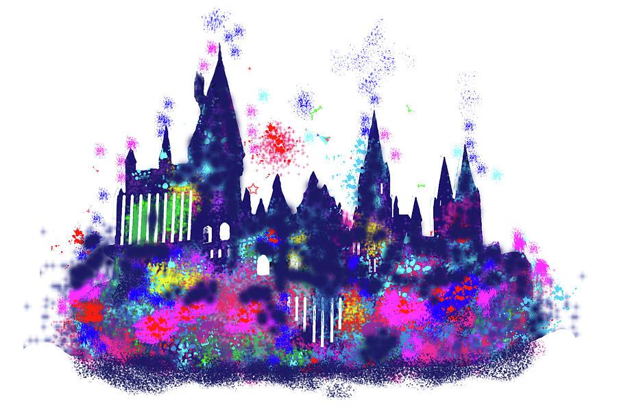 Harry Potter Hogwarts Castle Digital Art by Midex Planet