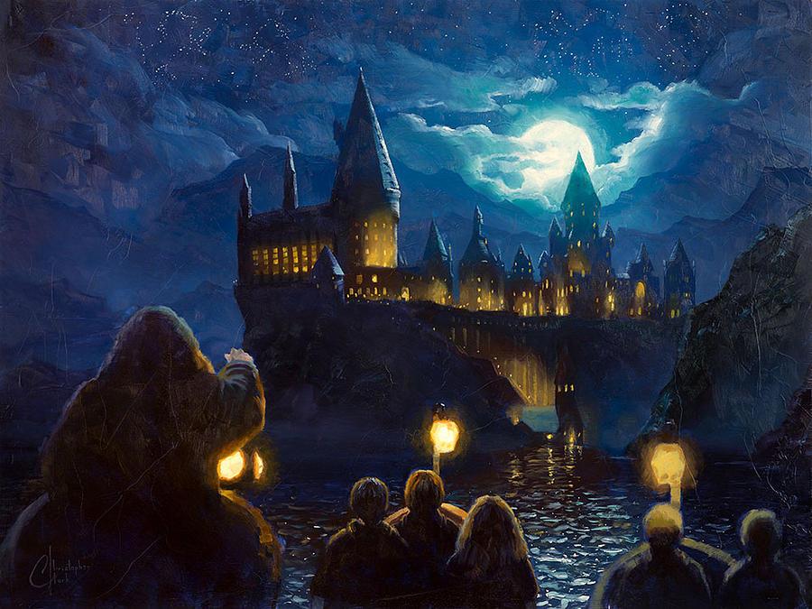 Harry Potter Book Art Hogwarts Harry Potter - ...