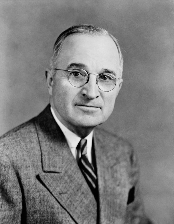 President Truman Photograph - Harry Truman - 33rd President Of The United States by War Is Hell Store