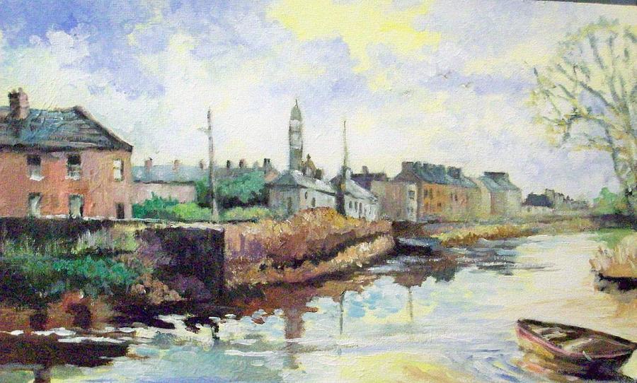 Landscape Painting - Harrys  Mall -limerick-ireland by Paul Weerasekera
