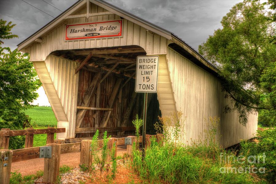 Harshman Photograph - Harshman Covered Bridge by Paul Lindner