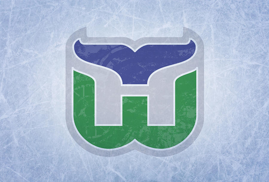 Hartford Mixed Media - Hartford Whalers Vintage Hockey At Center Ice by Design Turnpike