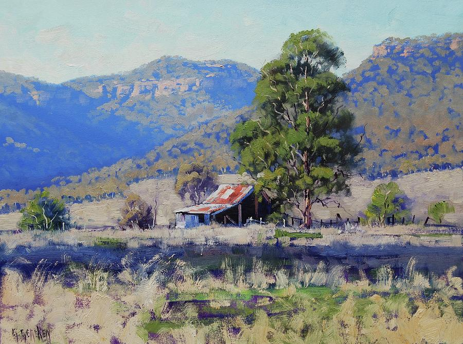 Nature Painting - Hartley Farm Shed by Graham Gercken