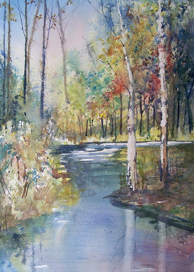 Watercolor Painting - Hartman Creek Birches by Ryan Radke