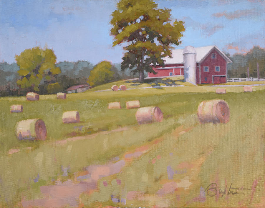 Farm Painting - Hartville, Ohio Farm by Todd Baxter