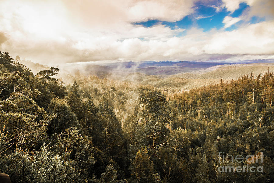 Morning Photograph - Hartz Mountains To Wellington Range by Jorgo Photography - Wall Art Gallery