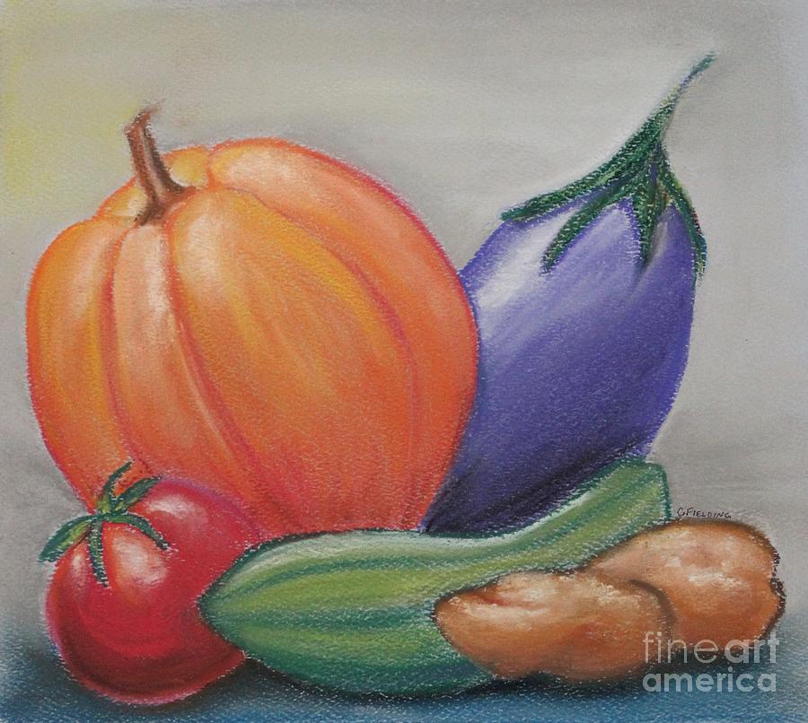 Vegetables Pastel - Harvest by Carol Fielding