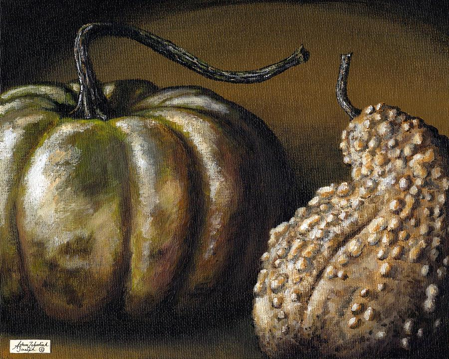 Painting Painting - Harvest Gourds by Adam Zebediah Joseph