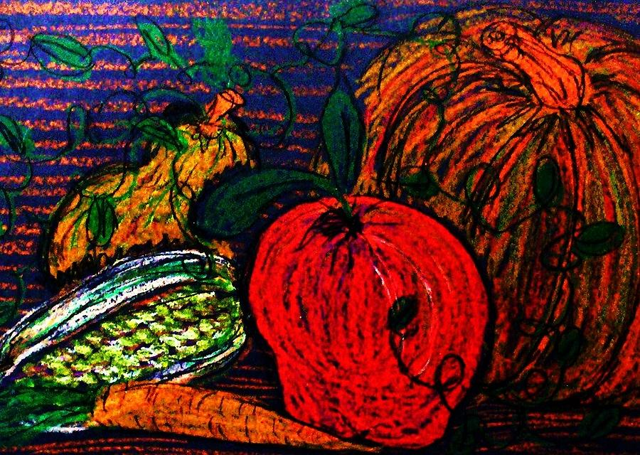 Vegetable Painting - Harvest by Jeanette Stewart