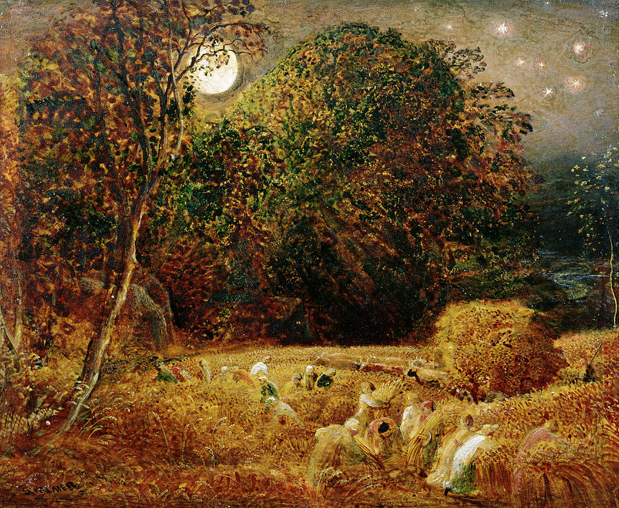 Harvest Painting - Harvest Moon by Samuel Palmer