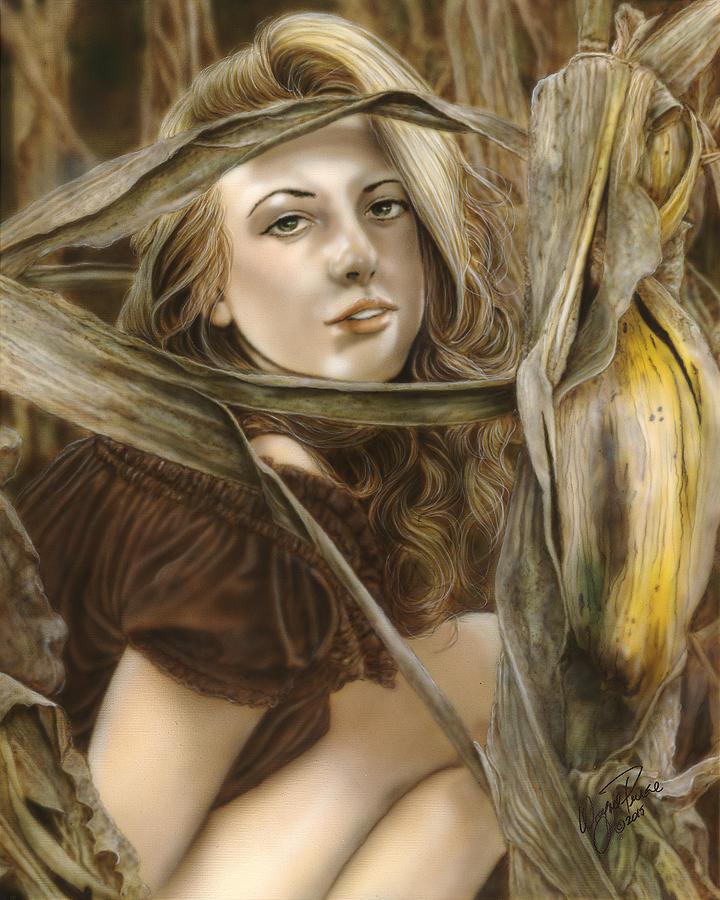 Female Painting - Harvest Nymph by Wayne Pruse