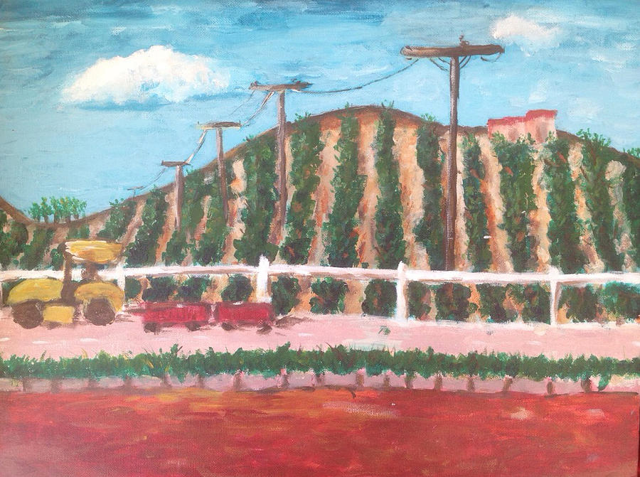 Winery Painting - Harvest Season Temecula by Roxy Rich