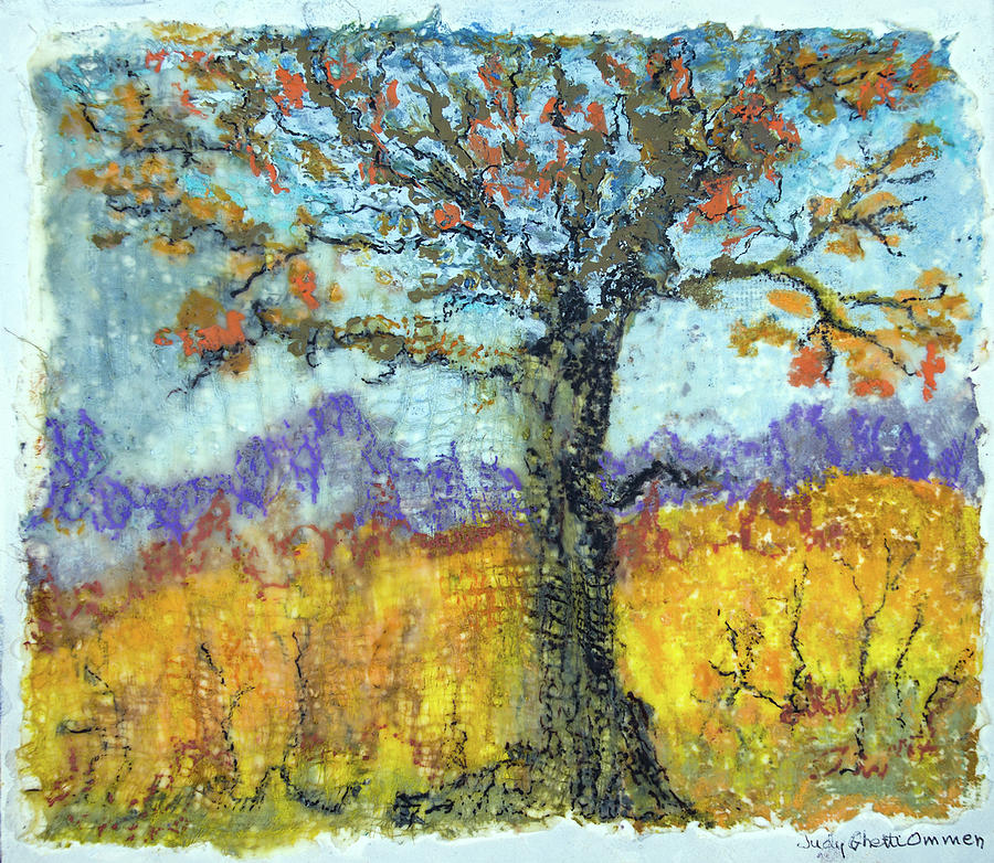 Encaustic Painting - Harvest Time by Judith Ghetti Ommen