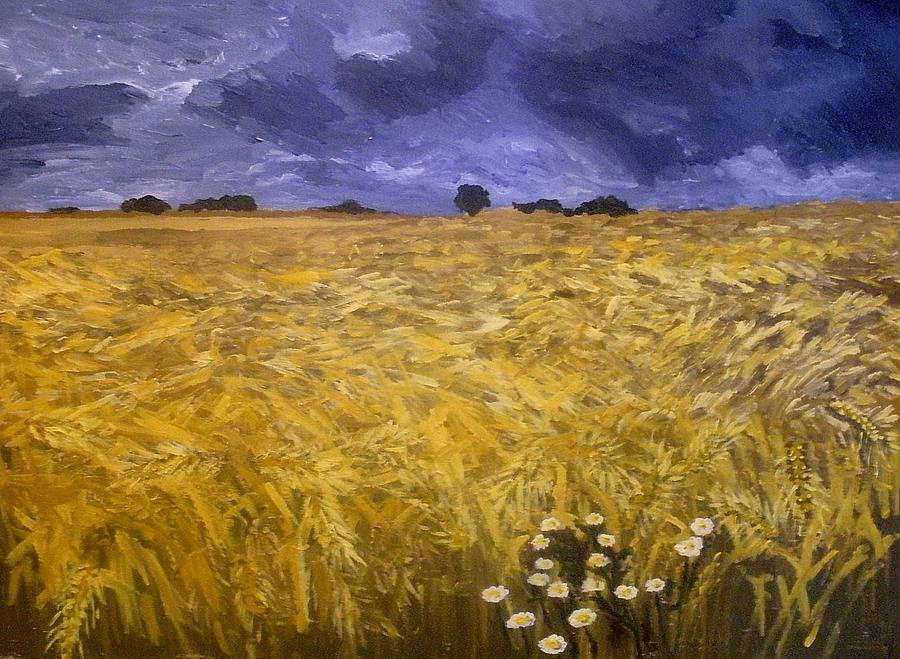 Landscape Painting - Harvest Time by Mats Eriksson