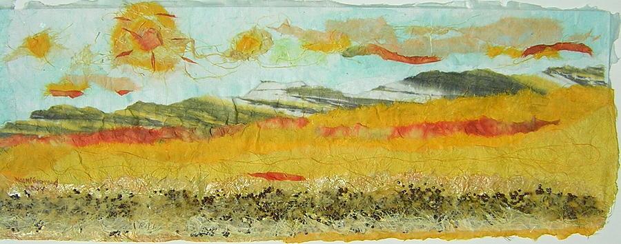 Prairie Scene Painting - Harvest Time On The Prairies by Naomi Gerrard