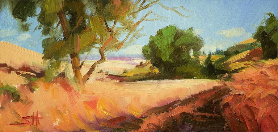 Landscape Painting - Harvest Time by Steve Henderson