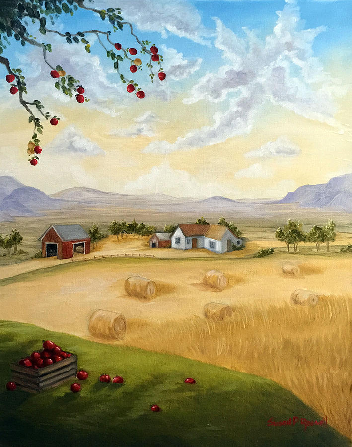 Oil Painting Painting - Harvest Time  by Susan  Rossell