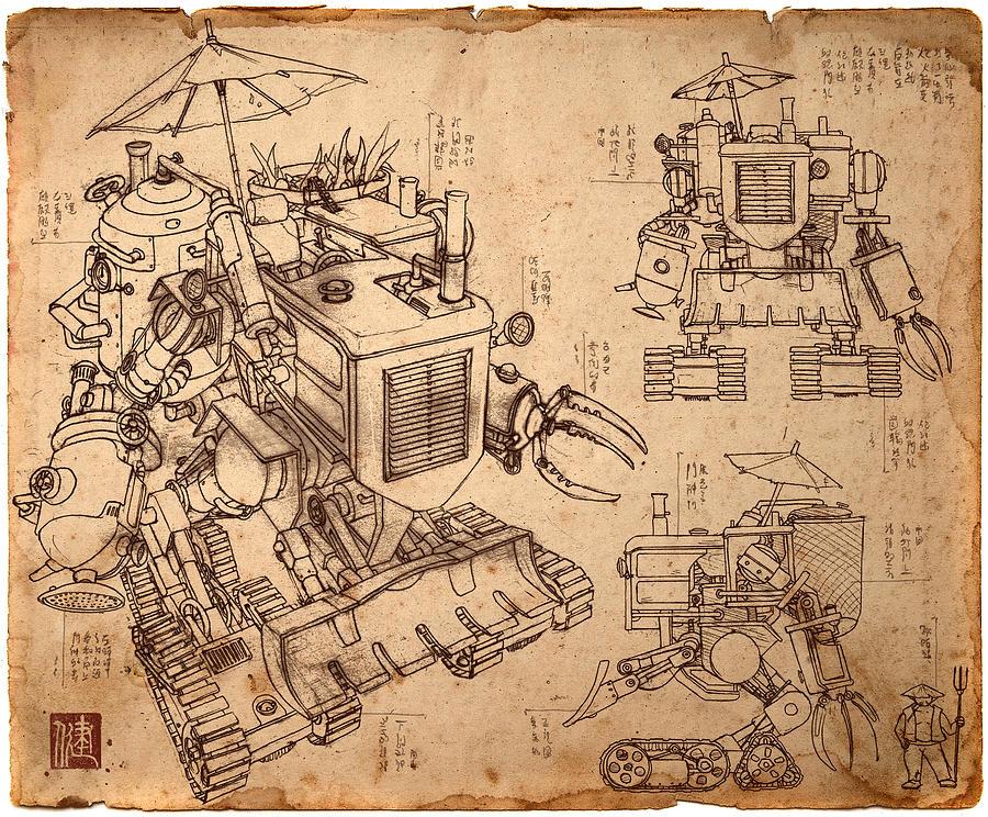 James ng artwork for sale kowloon hong kong harvester blueprint by james ng malvernweather Choice Image