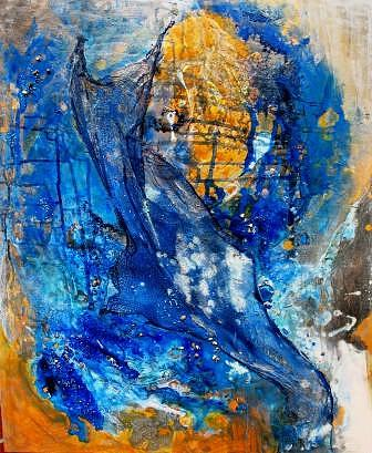 Abstract Painting - Harvesting The Cool Deep by Susan McCrae