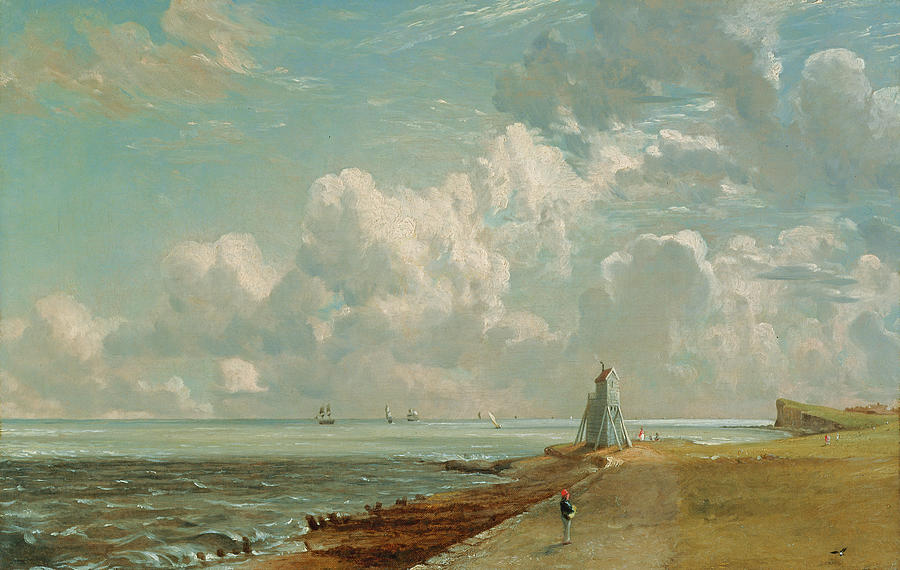 Harwich - The Low Lighthouse And Beacon Hill Painting by John ...