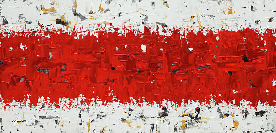 Hashtag red - Abstract Art by Carmen Guedez