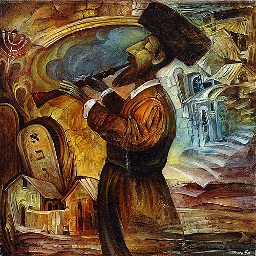 Il movimento naif... Hasidic-playing-the-flute-boris-shapiro