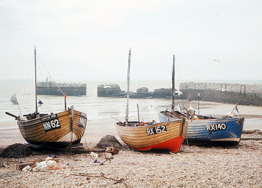 Hastings Photograph - Hastings England Beached Fishing Boats by Richard Singleton
