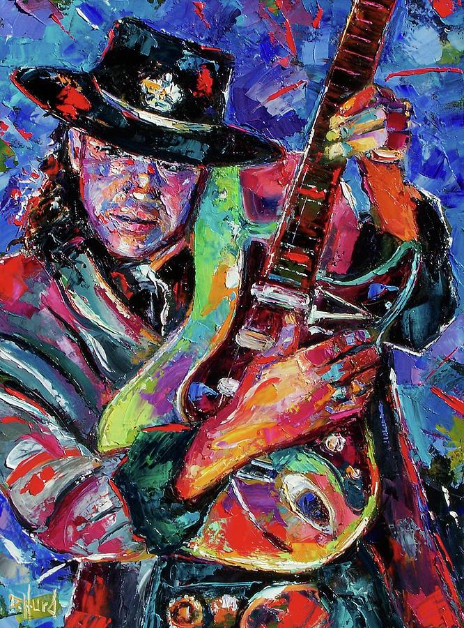 Stevie Ray Vaughan Painting - Hat And Guitar by Debra Hurd