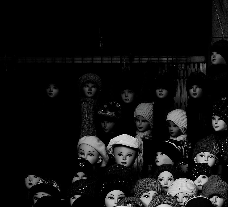 Hats Photograph - Hat Mannequins by Tianxin Zheng